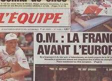 journal  l'equipe 21/03/93 FOOTBALL VALENCIENNES MARSEILLE TENNIS COURIER