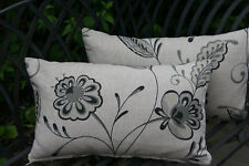 Laura Ashley fabric cushions - carolina, charcoal - NOW 1/2 PRICE!