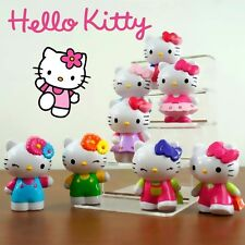 8Pcs Cute Kitty Cat Action Figure Mini Figurines Display Cake Topper Decor Toy