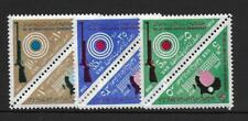 "1962 Egypt ""1st African Table Tennis Tournament"" complete set SG719-724 MNH"