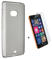Genuine CaseIt Gel Case Cover + Screen Protector For Nokia Lumia 535 Frost Clear
