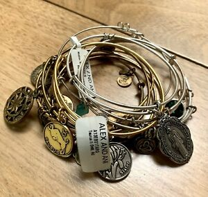 Alex and Ani Bracelet Lot of 11 Silver and Gold Tone