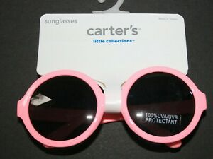 New Carter's Girls Sunglasses 100% UVA-UVB 0-24m 0-2 year Round Pink Dark Lens