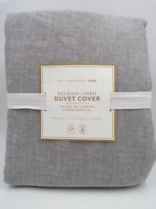 Pottery Barn Teen Belgian Linen Duvet Cover Flagstone Gray Full Queen #L10