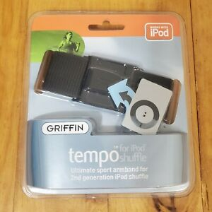 Griffin Tempo - Ultimate Sport Black Armband For 2nd Gen iPod Shuffle - Black