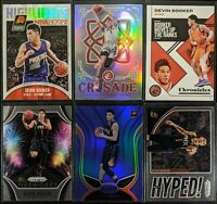 Lot of (6) Devin Booker, Including Crusade silver, Blue Mirror & Prizm inserts