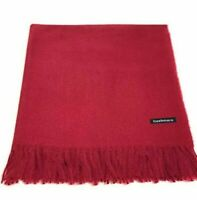 Maroon Pashmina Wrap Ladies Shawl Womens Oversized Thick Warm Scarf Wedding Prom