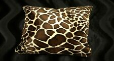 Giraffe Pillow Shams Standard, Queen,or King Faux Fur Pillow cases Set Of 2