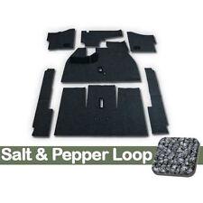 1968 Deluxe VW Bug Sedan Carpet Kit 7pc (W/O Footrest), Salt & Pepper