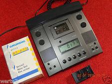 GRUNDIG Dt 3230 Stenorette DIKTIER+WIEDERGABEGERÄT+Handmikrofon,Ersatzgerät/NEU