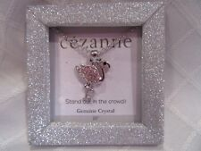 """Genuine Cezanne Crystal Flamingo Pendant Necklace """"Stand Out In A Crowd"""" NIB"""