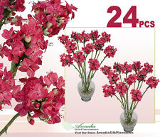 "24 pcs 25"" Hoya Artificial Flowers Silk Plants Decor Wedding Office 2635PKH"