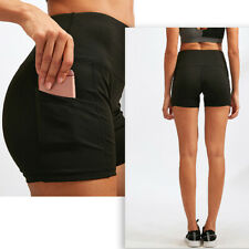 Women's High Waist Yoga Shorts Workout Running Athletic with Pockets Yoga Pants