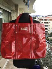 Tres Beau Et Authentique Grand Sac Cabas Estelle Bag Verni Rouge D&G