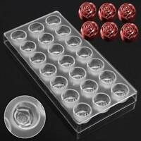 Rose Shaped Pastry Tools Polycarbonate 3D DIY Candy Chocolate Mold Tray Pudding