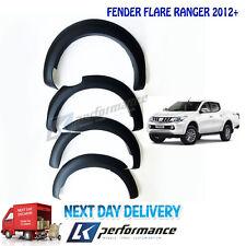1 Set Matte Black Fender Flare Wheel Arch For Ford Ranger T6 2016+