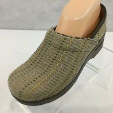 Dansko Canvas Clogs 37 Professional Nursing US Sz 6.5 Mules Slip-On Mules Tan