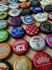 200 MIXED LOT BEER BOTTLE CAPS, Variety Colors, Collectible Bottlecaps FREE SHIP