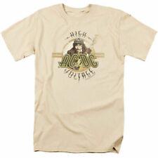 AC/DC High Voltage T Shirt Mens Licensed Rock N Roll Music Band Merch Tee Cream