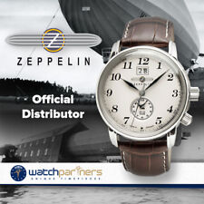 Graf Zeppelin LZ127 Quartz watch Big date 2nd Time Zone 5ATM Beige Dial 7644-5