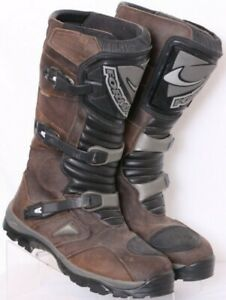 Forma Adventure DryTex Brown Leather Tall Motorcycle Boots Euro 48 Men's US 15