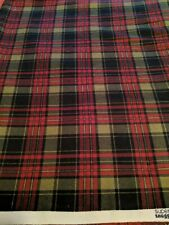 Red And Green Snuggle Plaid Fabric-By The Yard