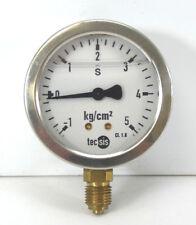"tecsis Manometer   Ø 63 mm   -1 bis 5 kg/cm²   1/4"" senkrecht  CL. 1.6  Glycerin"