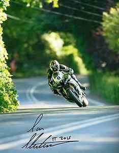 Ian Hutchinson 2015 Isle of Man TT signed 16 x 12 picture & proof certificate.