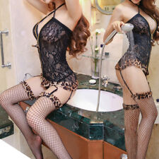 Women Sexy Lace Lingerie Underwear Babydoll Sleepwear Crotchless With G-String &