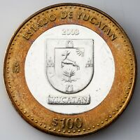 2003 Mexico 100 Pesos Silver Center KM #689 UNC Condition