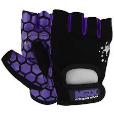 MRX Ladies Weight Lifting Gloves Fitness Gym Training Crossfit Purple / Black, M