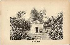 Stampa antica SALICE TERME fonte Sales Pavia 1885 Old antique print