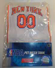 NEW YORK Knicks NBA Pet Mesh Tank JERSEY #00 Size Medium Authentic NBA *New*