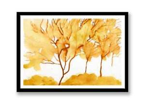 Three trees / Watercolor  painting unique gift (Print) ID : 358