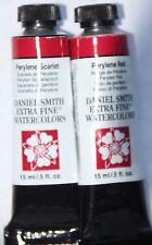 2 Daniel Smith Extra Fine Watercolor Paint:15ml-Perylene Red & Scarlet Ser.3
