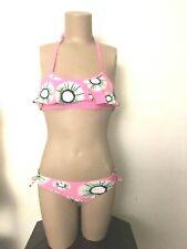 Xhilaration adorable 2 pieces swimwear bikini kids size S 6/6X flowers printed