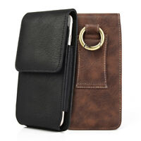Vertical Holster Belt Clip Carrying Leather Case Cover Pouch For iPhone Samsung