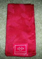 NEW Lenox 7131 RED Holiday HOLLY DAMASK Napkin~Originally $12~LAST ONE!
