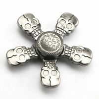 Metal 5 Skull Head Hand Spinner EDC Focus Autism Gyro Toy Stress Reducer #ur