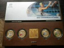 2002 COMMONWEALTH GAMES £2 POUND PIEDFORT SILVER PROOF COIN SET BOXED  WITH COA
