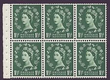 SB66 Wilding booklet pane Crowns White perf type I UNMOUNTED MNT/MNH