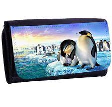Penguin Life Bi-fold Zipper Bill & Card Holder Long Wallet