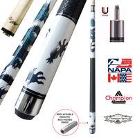 Champion Dragon Pool Cue Stick, Predator Uniloc Joint,  314 Taper Shaft