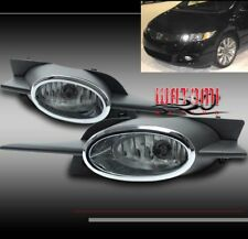 09 10 11 HONDA CIVIC 2DR BUMPER FOG LIGHTS LAMP W/CHROME/BLACK COVER+BULB+SWITCH