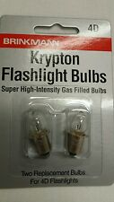2-Pack Brinkmann 4D Krypton Super High-Intensity Gas Filled Flashlight Bulbs