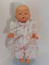 Anatomically correct newborn girl baby doll, blue eyes, creepy