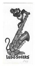 HERBERT OTT: Exlibris für Ludo Segers, Saxophon