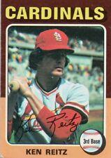 1975 Topps Mini #27 Ken Reitz St. Louis Cardinals Baseball (2018-0716)