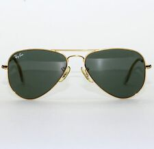 VINTAGE B&L RAY BAN USA 52-14 SMALL AVIATOR SUNGLASSES W/ CASE EXCELLENT L0207
