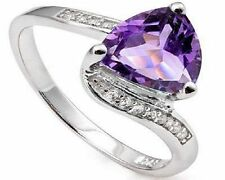 Solitaire Amethyst Fine Rings